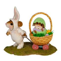 Easter Bunny and Easter Egg outfits complete with a towable basket